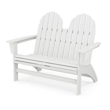 "Vineyard 48"" Adirondack Bench in White"