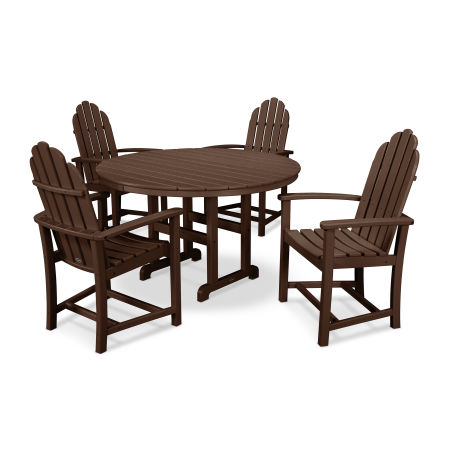 Classic Adirondack Dining 5-Piece Set in Mahogany