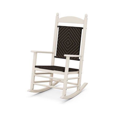Jefferson Woven Rocking Chair in Sand Frame / Cahaba
