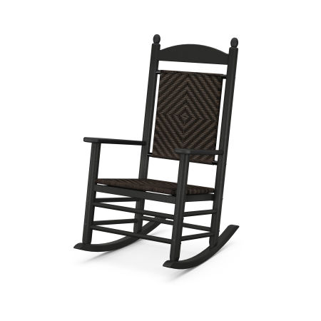 Jefferson Woven Rocking Chair in Black Frame / Cahaba