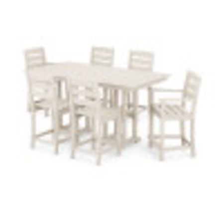 Lakeside 7-Piece Counter Set in Sand