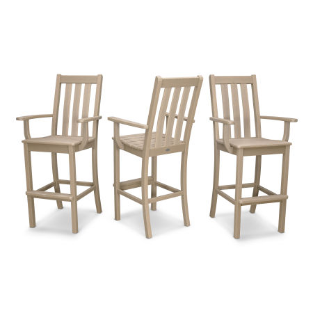 Vineyard Bar Arm Chair 3-Pack in Vintage Sahara
