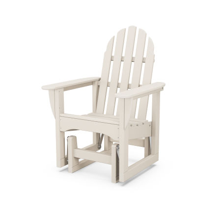 Classic Adirondack Glider Chair in Sand