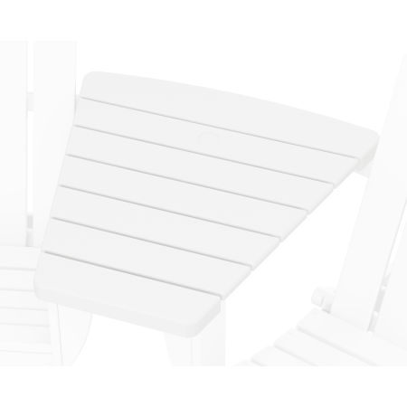 Classic Series Angled Adirondack Connecting Table in White