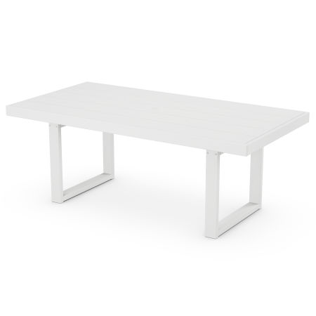 """EDGE 39"""" x 78"""" Dining Table in White"""
