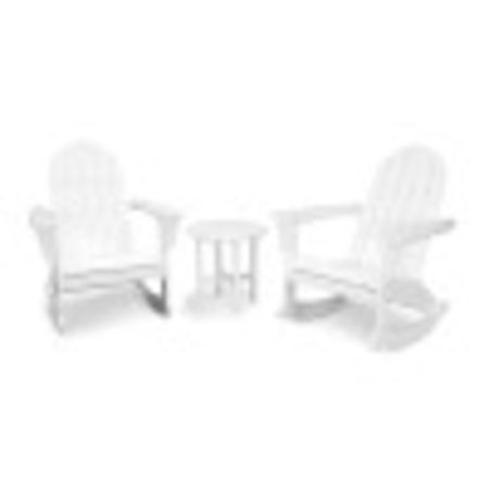 Vineyard 3-Piece Adirondack Set in White