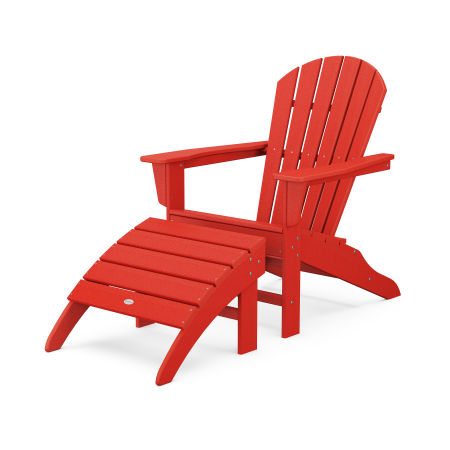 South Beach Adirondack 2-Piece Set in Sunset Red