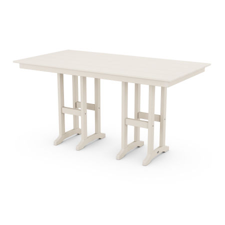 "Farmhouse 37"" x 72"" Counter Table in Sand"