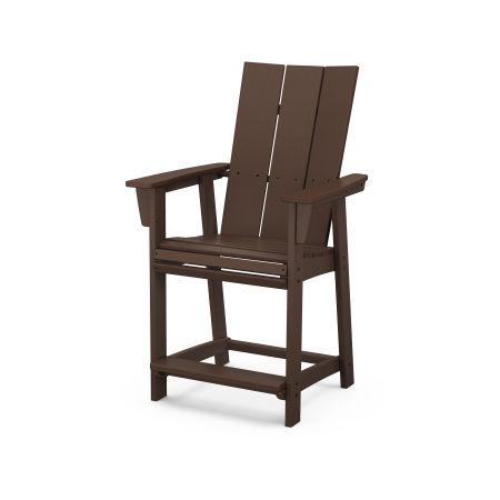 Modern Adirondack Counter Chair in Mahogany