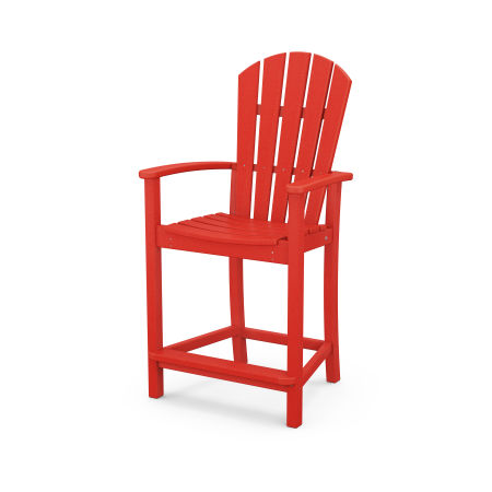 Palm Coast Counter Chair in Sunset Red
