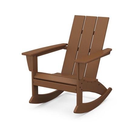 Modern Adirondack Rocking Chair in Teak