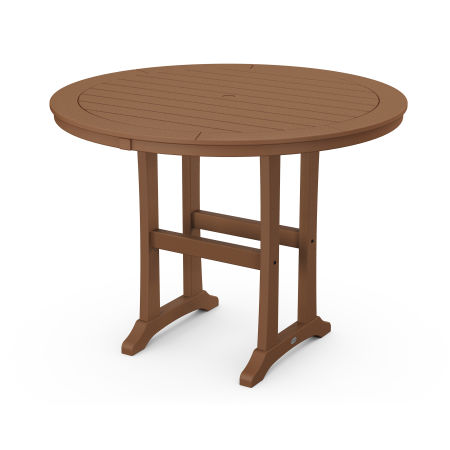 "48"" Round Counter Table in Teak"