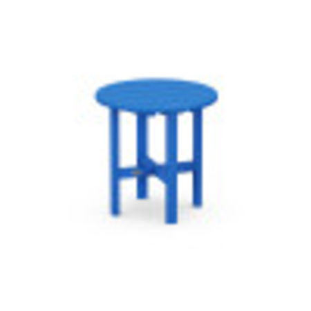 "Round 18"" Side Table in Pacific Blue"