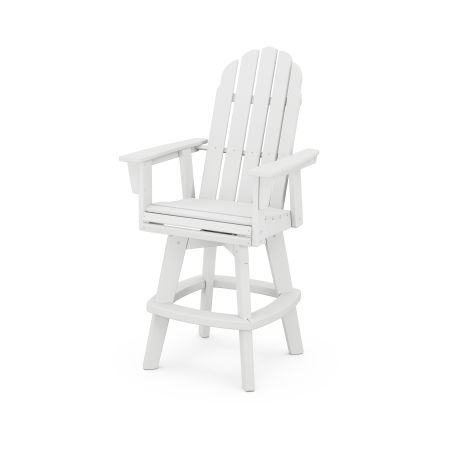 Vineyard Adirondack Swivel Bar Chair in White