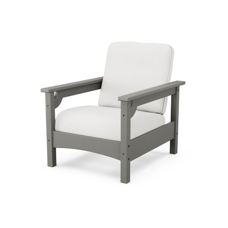 Club Chair in Slate Grey / Textured Linen