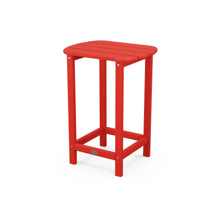 "26"" Counter Side Table in Sunset Red"