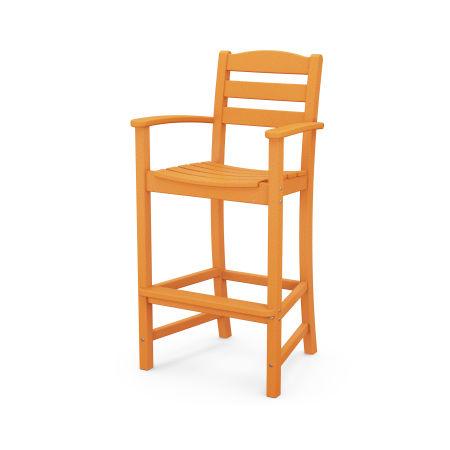 La Casa Café Bar Arm Chair in Tangerine