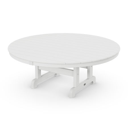 """Round 48"""" Conversation Table in White"""