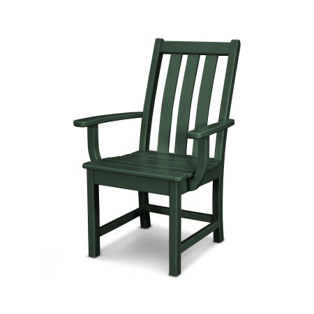 Vineyard Dining Arm Chair in Green
