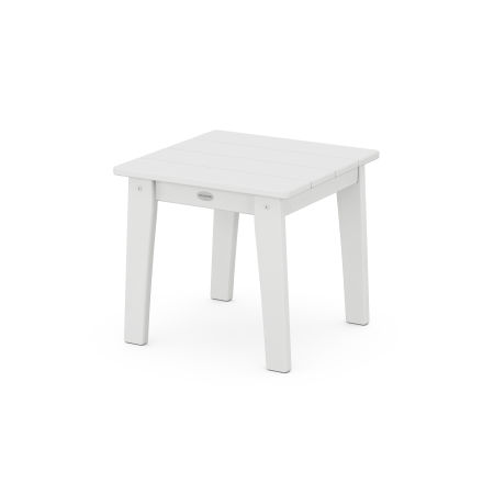 Lakeside End Table in White