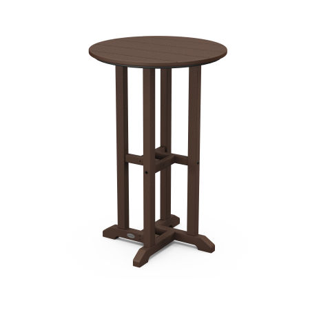 """Traditional 24"""" Round Counter Table in Mahogany"""