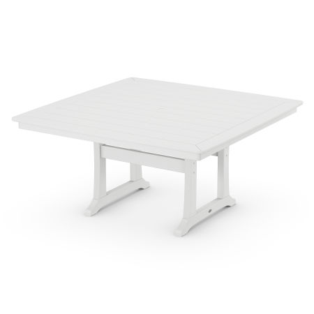 "59"" Dining Table in White"