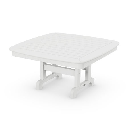 """Nautical 37"""" Conversation Table in White"""