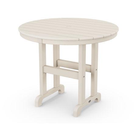 "La Casa Café Round 36"" Dining Table in Sand"