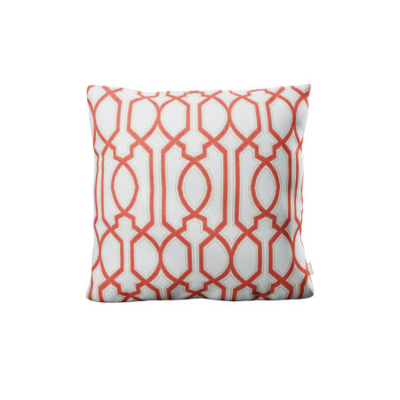 "22"" Throw Pillow in Chelsey Trellis Coral"