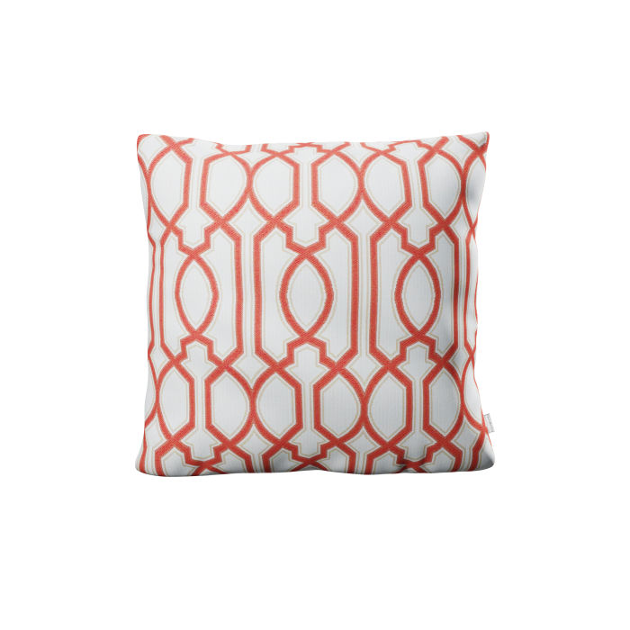 """22"""" Throw Pillow in Chelsey Trellis Coral"""