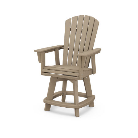 Nautical Adirondack Swivel Counter Chair in Vintage Sahara