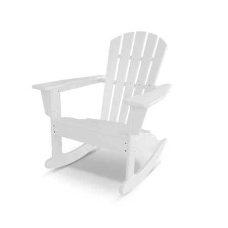 Palm Coast Adirondack Rocking Chair in White