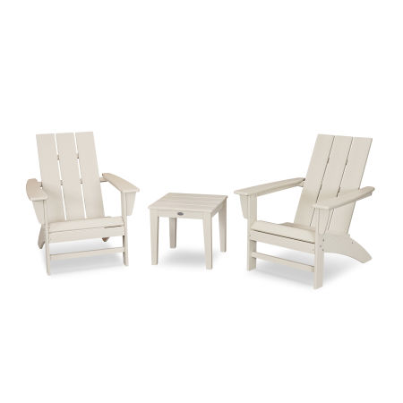 Modern Adirondack 3-Piece Set in Sand