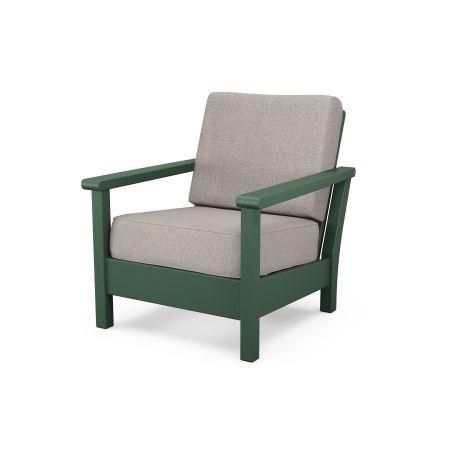 Harbour Deep Seating Chair in Green / Weathered Tweed