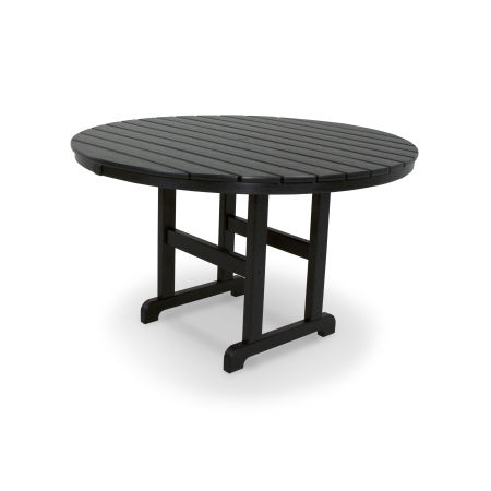 """Classics Round 48"""" Dining Table in Black"""
