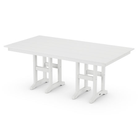 "Lakeside 37"" x 72"" Farmhouse Dining Table in White"