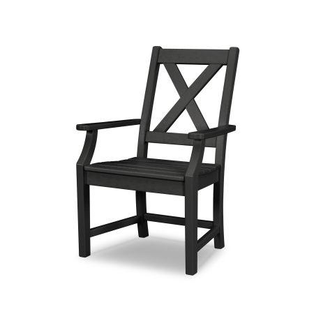 Braxton Dining Arm Chair in Black