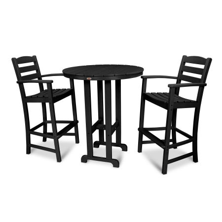 La Casa Café 3-Piece Bar Set in Black