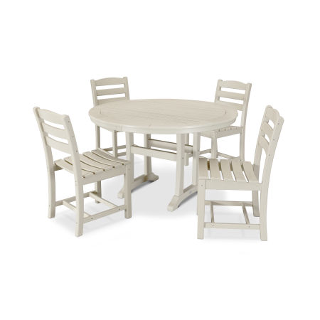 La Casa Café 5 Piece Side Chair Dining Set in Sand