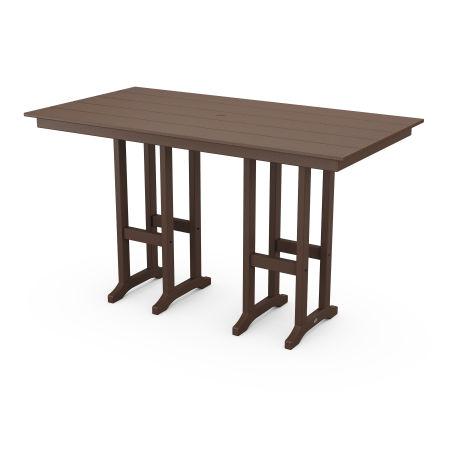 """Farmhouse 37"""" x 72"""" Bar Table in Mahogany"""