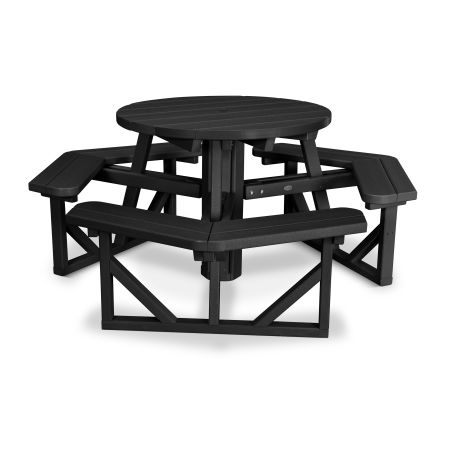"Park 36"" Round Picnic Table in Black"