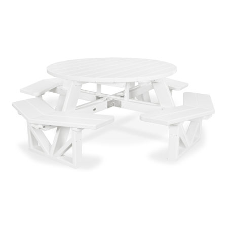 """Park 53"""" Octagon Table in White"""
