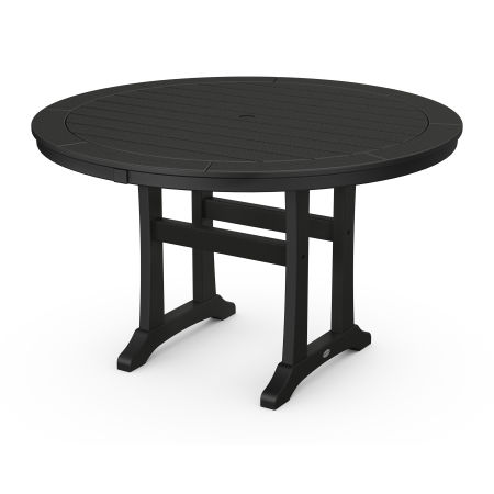 """48"""" Round Dining Table in Black"""