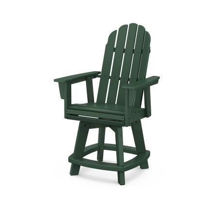 Vineyard Adirondack Swivel Counter Chair in Green