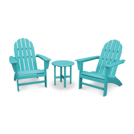 Vineyard 3-Piece Adirondack Set in Vintage Aruba