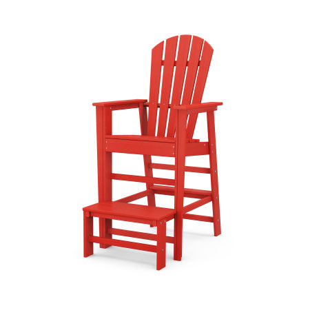 South Beach Lifeguard Chair in Sunset Red
