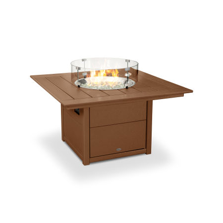 """Square 42"""" Fire Pit Table in Teak"""