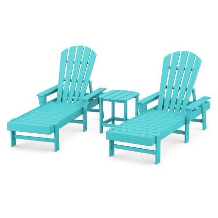 South Beach Chaise 3-Piece Set in Aruba