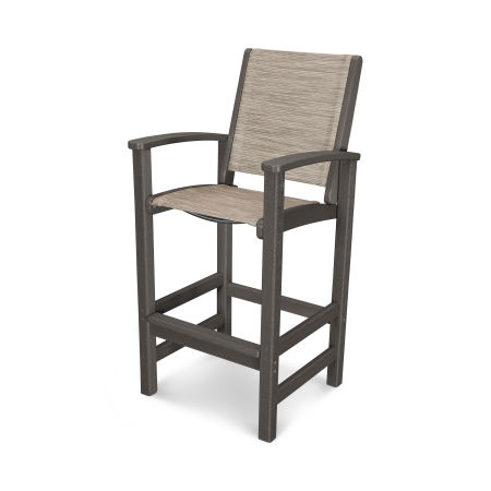 Coastal Bar Chair in Vintage Coffee / Onyx Sling