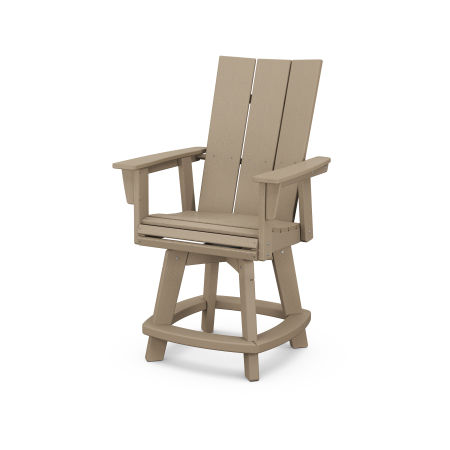 Modern Adirondack Swivel Counter Chair in Vintage Sahara